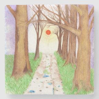 """Sundown Boulevard"" Stone Coaster"