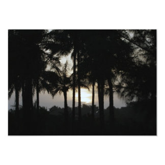 Sundown in a palm forest 13 cm x 18 cm invitation card