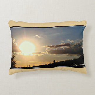 """Sundown in New River"" Brushed Poly Accent Pillow"