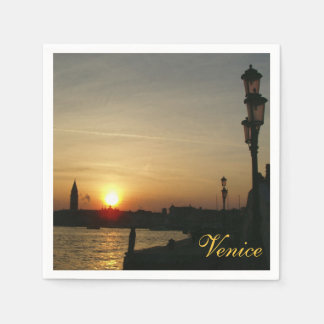 Sundown in Venice Disposable Serviette