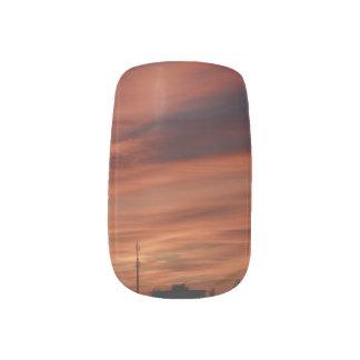 sundown nail sticker