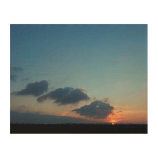 Sundown on canvas