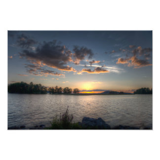 Sundown on horizon photographic print