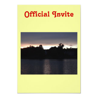 Sundown Over Lake Swan, Georgia 13 Cm X 18 Cm Invitation Card