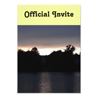 Sundown Over Lake Swan, Georgia 13 Cm X 18 Cm Invitation Card