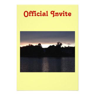 Sundown Over Lake Swan, Georgia Personalized Announcements