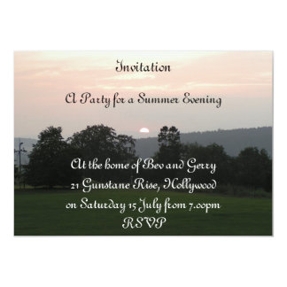 sundown party 13 cm x 18 cm invitation card