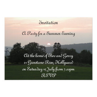 sundown party custom announcement