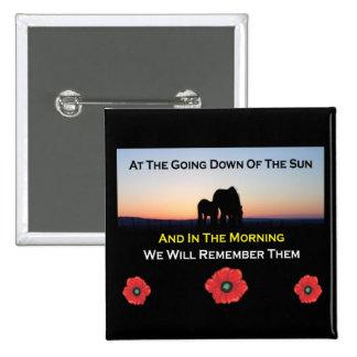Sundown Remembrance Day Button