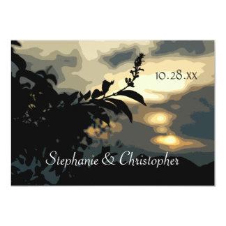 Sundown Silhouette Engagement Party Custom Invitat 13 Cm X 18 Cm Invitation Card