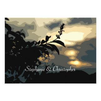 Sundown Silhouette Wedding Custom Invitations