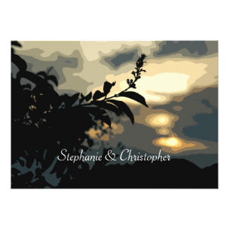 Sundown Silhouette Wedding Invitations 7 x 5