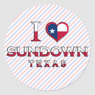 Sundown, Texas Round Sticker