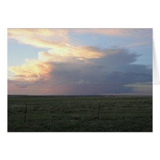 Sundown Thunderhead Greeting Card
