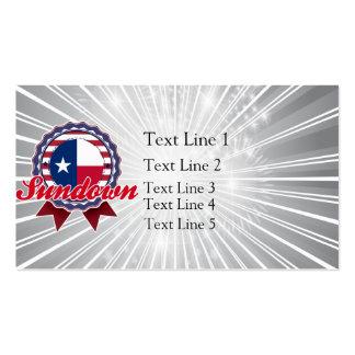 Sundown, TX Business Card Templates