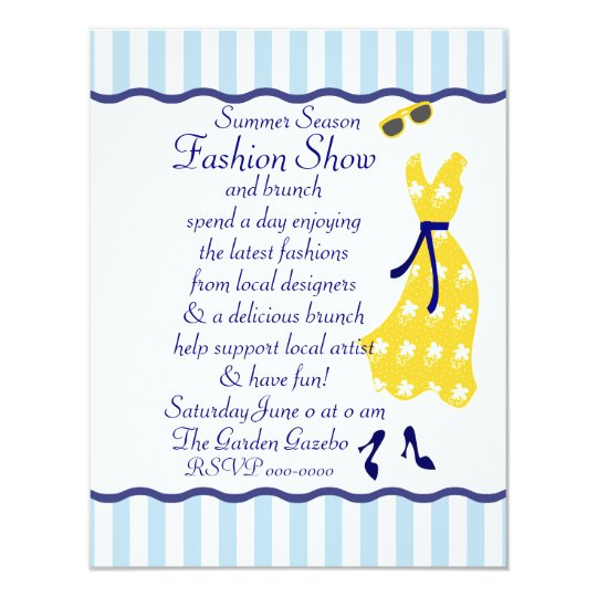 Sundress Fashion Show Card