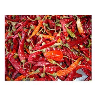 Sundried Chili Peppers Postcard