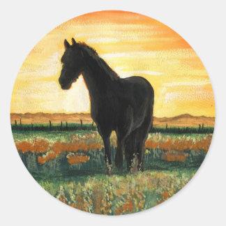 Sunet Horse Classic Round Sticker