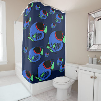Sunfish #3 shower curtain