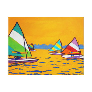 Sunfish Sailboat Race Canvas Print