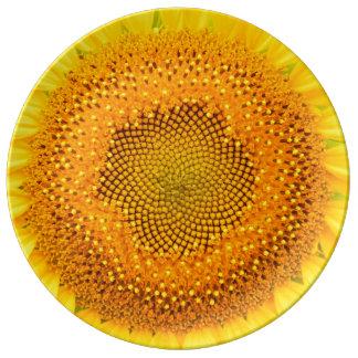 "Sunflower 10.75"" Decorative Porcelain Plate"