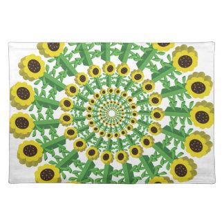 Sunflower 3D Circular Pattern Placemat