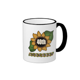 Sunflower 40th Birthday Gifts Coffee Mug