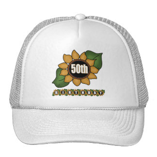 Sunflower 50th Birthday Gifts Hats