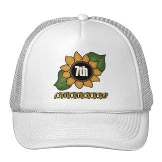 Sunflower 7th Birthday Gifts Trucker Hat