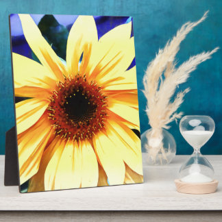 Sunflower  8x10 With Easel Plaque