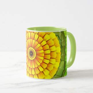 Sunflower abstractly mug