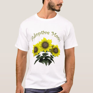 Sunflower Adoptive Mother Mothers Day Gifts T-Shirt