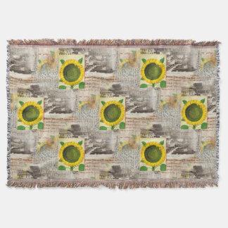 Sunflower Ancient Rome Italian Throw Blanket