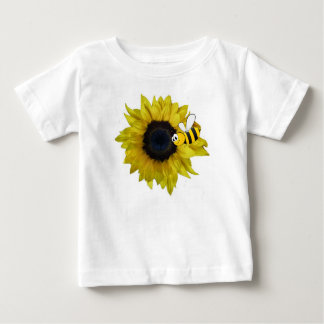 Sunflower And Bee Baby T-Shirt