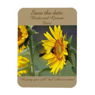 Sunflower and Bee Magnet Save the date