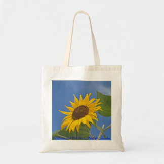 Sunflower and Blue Sky by Penelopes_G... Budget Tote Bag