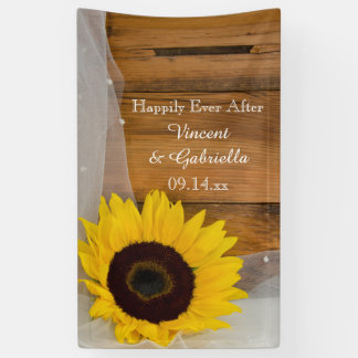 Sunflower and Bridal Veil Country Wedding