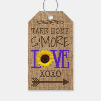 Sunflower and Burlap Purple Take Home S'More Love