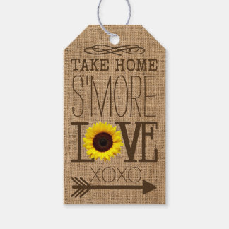 Sunflower and Burlap Take Home S'More Love Favor