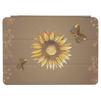 Sunflower and Butterflies Vintage Elegant iPad Air Cover
