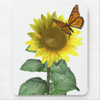 Sunflower and Butterfly Mouse Pad