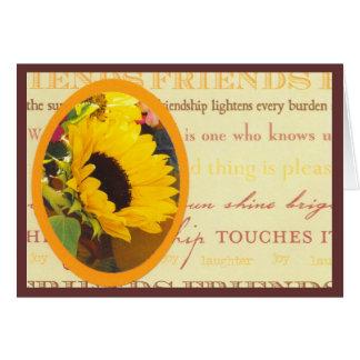Sunflower and friends Notecard