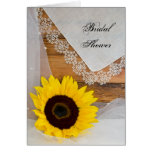 Sunflower and Lace Country Bridal Shower Invite