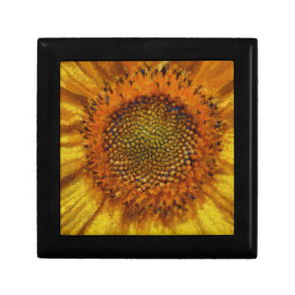 Sunflower and Seeds In Van Gogh Style Gift Box