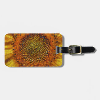 Sunflower and Seeds In Van Gogh Style Luggage Tag