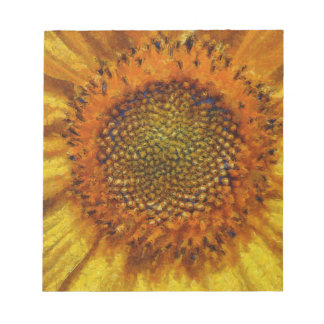 Sunflower and Seeds In Van Gogh Style Notepad