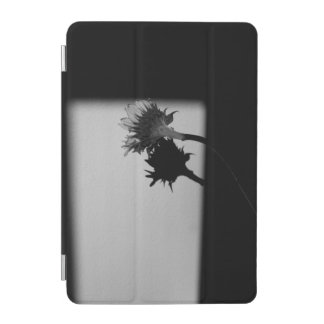 Sunflower and Shadow - Black and White Photograph iPad Mini Cover
