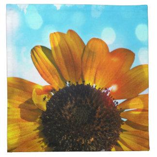 Sunflower and Sky Napkins