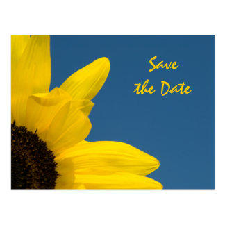 Sunflower and Sky Wedding Save the Date Postcard