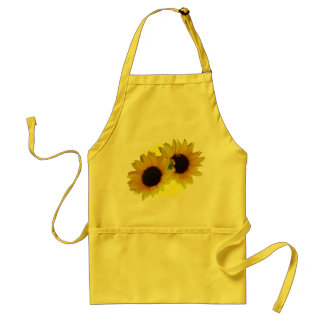 Sunflower Apron Cheeful Yellow Sunflower BBQ Apron